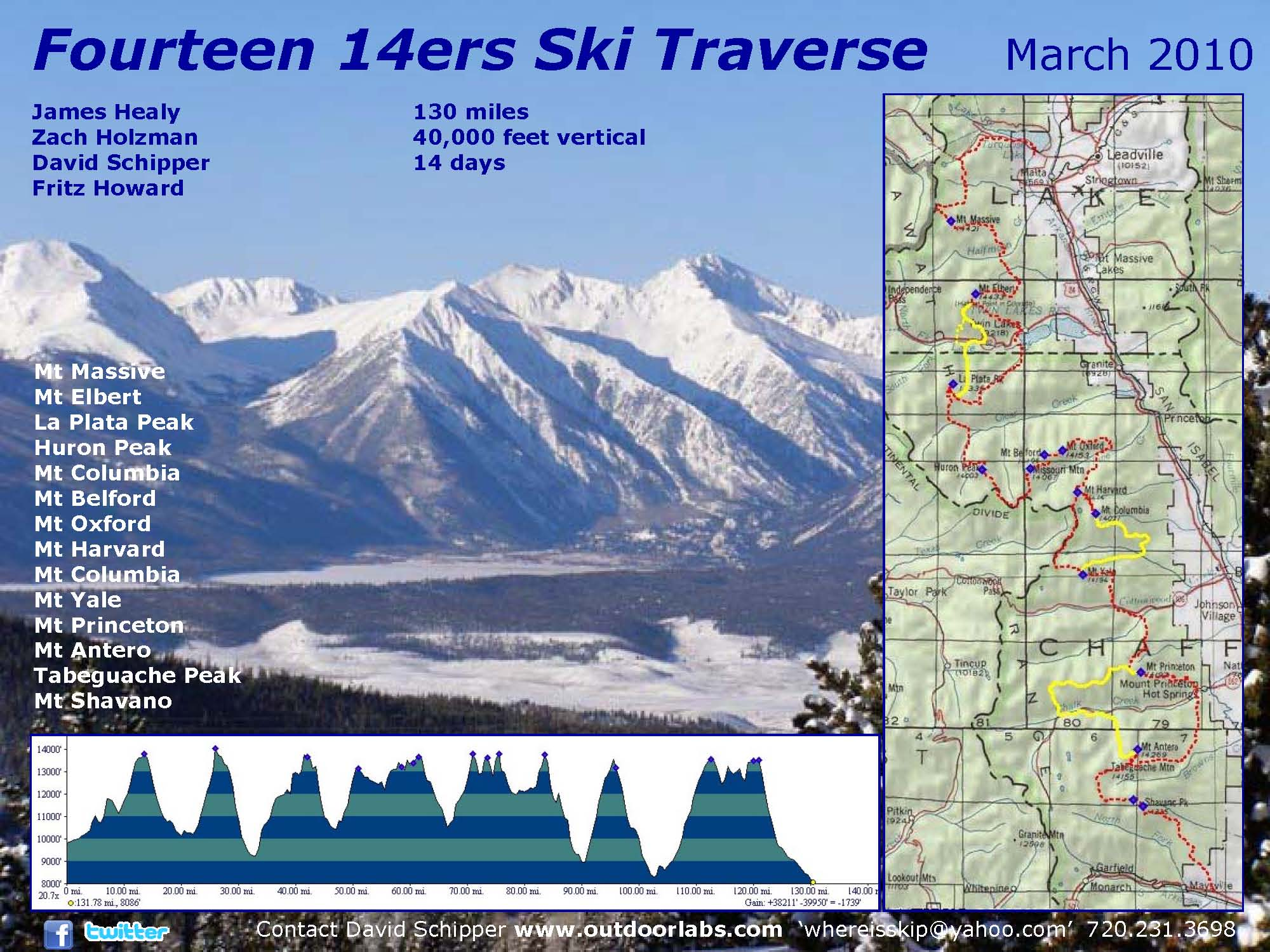 Fourteen Ers Food Rations Elevation Outdoors Magazine - 14ers map us