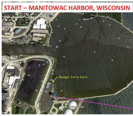 Manitowoc Harbor, the ferry landing, doubles as the boat launch.